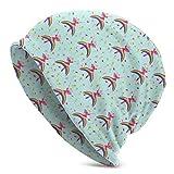 N / A Watch Hat Cappello,Cappelli Beanie Uomo,Slouchy Hat,Fairy On A Raibow Berretto in Maglia Tradizionale per Compleanno Berretto in Maglia