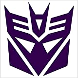 Brand New Racing Decal Sticker for Transformers Decepticons (Purple) x2