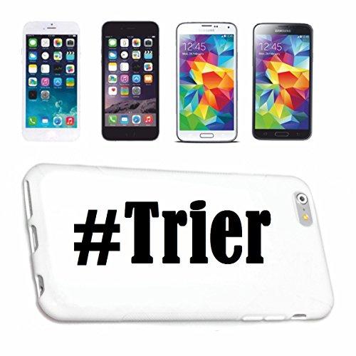 Reifen-Markt Handyhülle kompatibel für iPhone 4 / 4S Hashtag #Trier im Social Network Design Hardcase Schutzhülle Handy Cover Smart Cover