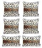 Hodeacc Juego de 6 Fundas de Almohada con Estampado de Leopardo, de Felpa Suave, diseño de Animales, de Pelo sintético, para decoración del hogar, 12 x 20 + 18 x 18 (Base Solamente)