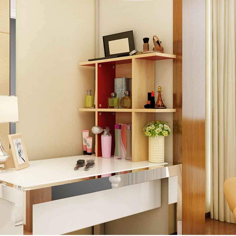 MEIDUO Shelves Bookshelf,Simple Table Simple Modern Desktop Bookshelf Combination Small Bookshelf Creative Shelf Student Floor Multifunctional Creative Desktop Small Bookshelf (Size   60  20  63cm)