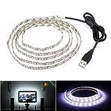 Striscia di illuminazione LED, retroilluminazione TV USB, 6.56 Ft/2 m, LED per televisori HD da 40-60 pollici, non impermeabile, bianco freddo