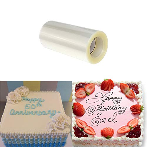 Acetate Sheets Cake Collars Transparent Cake Strips Clear Mousse Cake Acetate Roll Baking Paper Sheets For Craft Cake Decorating Chocolate Mousse Baking Paper Sheets (4 x 394inch)