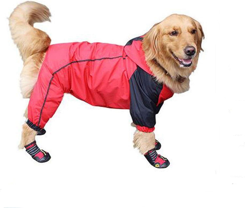 Hongyushanghang Big Dog Raincoat, Pet Summer Thin Waterproof Suit fine (color   Red, Size   7XL)