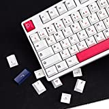 PBT keycap Cherry Profile 140 Key Dye Sublimation ANSI Layout Keycap for Mechanical Gaming Keyboard Gateron Kailh Cherry MX Switches (Dai Pink)