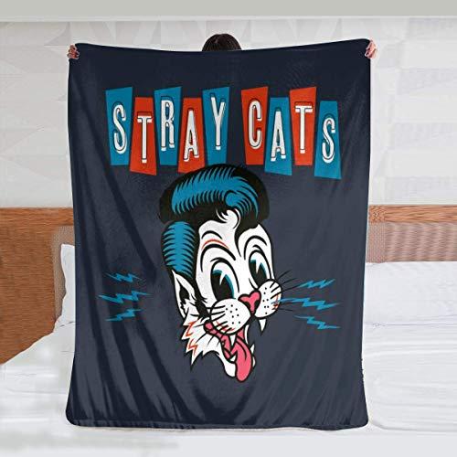 niaoyun -Stray Cats - Manta de franela ultra suave para todas las estaciones, peso ligero, para sala de estar, dormitorio, 150 x 100 cm