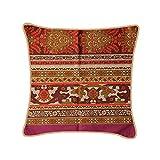 Bassetti Piazza San Marco 9314381 - Funda de cojín (100% algodón, 40 x 40 cm), Color Rojo