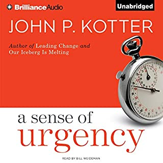 A Sense of Urgency audiobook cover art