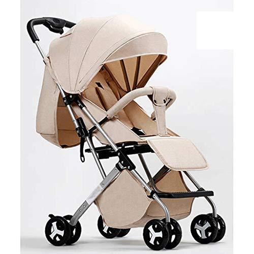 Diaod Tire con vástago y, fácil de Plegar el Carro de bebé (Caqui)