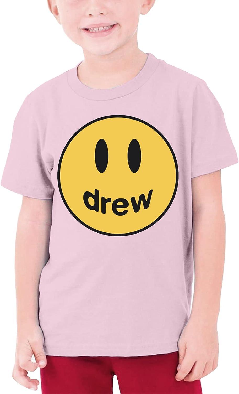 LIUZHUQIN Drew House T Shirt Youth Short-Sleeved Boys and Girls Black T-Shirt Sweatshirts