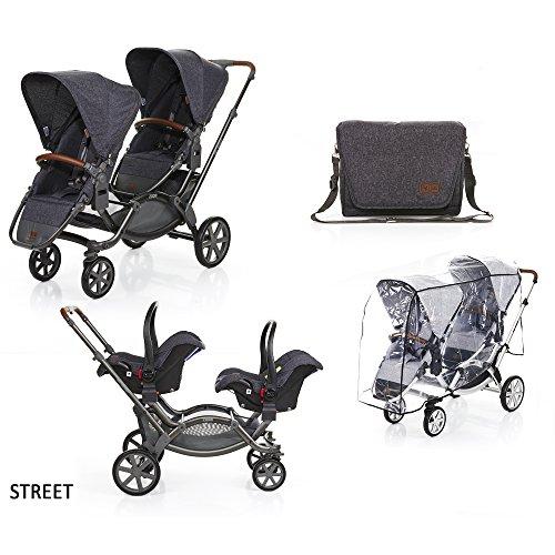 ABC Design - Gemellare ZOOM con ovetti, adattatori, borsa e parapioggia (street)