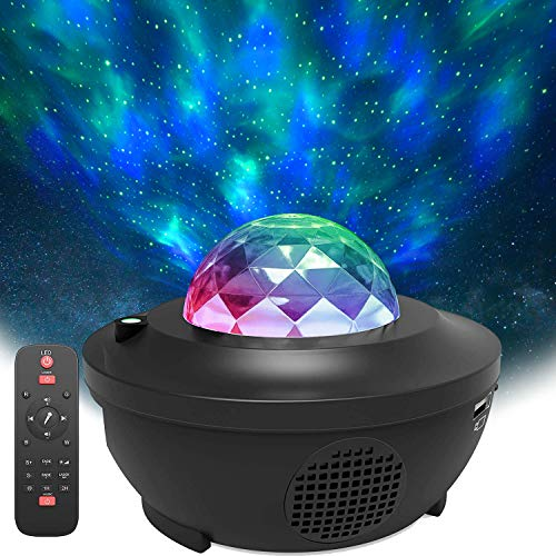 Star Projector, Galaxy Nebula Light Projector with Remote Control, LED Night Light with Bluetooth Music Speaker for Badroom, Kids Adults Room Decoration