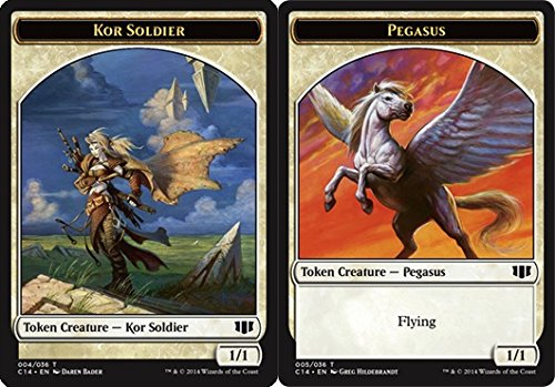 Magic The Gathering - KOR Soldier Token // Pegasus Token - Commander 2014