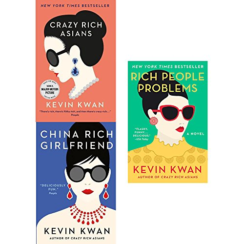 Kevin Kwan Crazy Rich Asians Trilogy Collection 3 Books Set Pack (Crazy Rich Asians, China Rich Girlfriend, Rich People Problems) [Paperback] NA