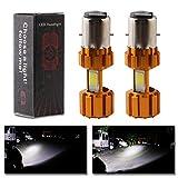 GLL 2pcs Bombillas LED BA20D Blancas COB 18W H616 Bombillas de Faro Delantero de...