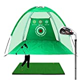 Bibiyi Swing Trainer Outdoor - Filet de Golf - Filet de Polyester - Filet de coupeur - Equipement de Golf en Salle - Cage de Golf