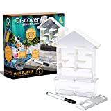 Discovery #MINDBLOWN Maze Planter DIY Build & Grow Botany Kit, STEM Science Experiment for Kids, Fun Home Lab Sprout Phototropism Project for Boys and Girls, Window Garden Set for Learning Biology