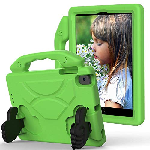 Case For ipad mini 5 2019 Case cute Kids cover for ipad mini 4 shock proof EVA Hand-held Stand Cover for ipad mini 2/3-Green_iPad mini 12345