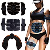 WEARRR Estimulador Muscular eléctrico EMS Nalgas inalámbricas Hip Trainer de Cadera Abdominales ABS estimulador de Entrenador Fitness Body Slimming Massager (Color : 6 Pack 3in1 2Gel)