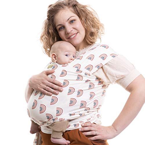 Boba Baby Wrap Carrier - Original Child and Newborn Sling (Rainbows Serenity)