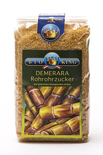 BioKing 2x 1000g BIO Demerara, ROHROHRZUCKER (EUR 6,90 / kg)