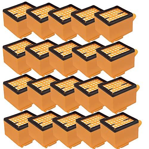 20 Stück Hygiene Mikrofilter HEPA H12 Filter passend für Vorwerk Kobold 135 und 136 Staubsauger