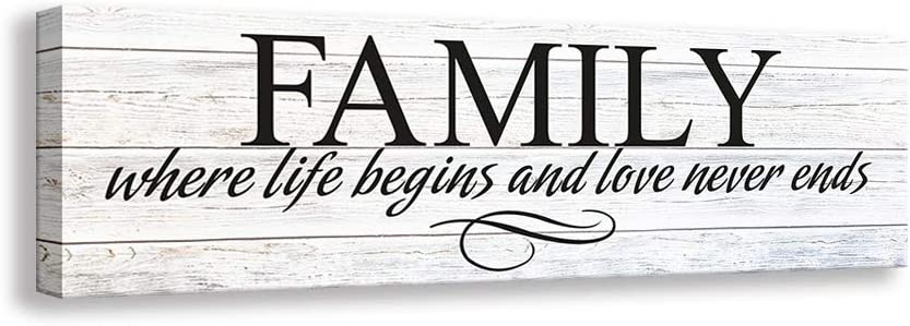Kas Home Inspirational Quotes Max 80% cheap OFF Motto Art Family Print Canvas Wall