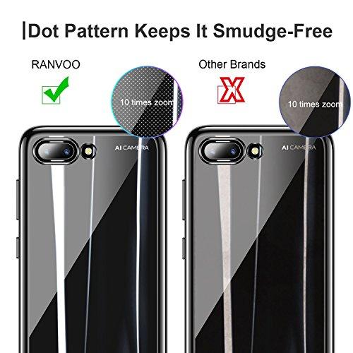 RANVOO Kompatibel mit Honor 10 Hülle, Transparent Silikon Handyhülle Durchsichtig Kratzfest Schutzhülle Slim Flexible TPU Chrome Bumper Cover Crystal Clear Case, 5.84'' (Schwarz) - 6