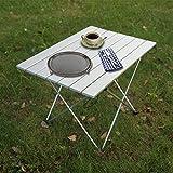 Klappbarer Camping Tisch Tragbare Aluminiumlegierung im Freien Schreibtisch Buffet Bock Tisch für Grill Picknick Party Camp Strand Fischen Garten-L
