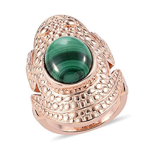 TJC Karis Frog Ring for Womens Size N Green Malachite Animal Jewellery