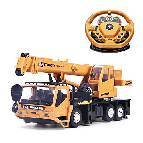 Control remoto camión juguetes educativos rc grúa rastreador eléctrico ingeniería camión eléctrico coche modelo niños chico gancho levantamiento grúa niñas niños regalos niños vehículo todoter