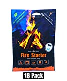 (18 Packs) Insta-Fire Granulated Fire Starter, All Natural, Eco-Friendly, Lights up to 48 Total Fires in Any Weather, Awarded 2017 Fire Starter of The Year