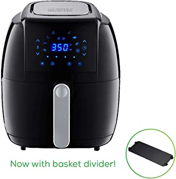 GoWISE USA GW22921-S 5-Quart 8-in-1 Electric Air Fryer + 50 Recipes (Black)