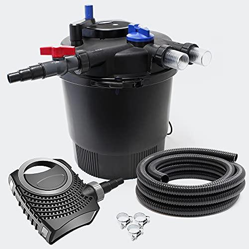 SunSun CPF-20000 Set bis 40000l 36W UVC NEO10000 Pumpe Schlauch Teichfilterset