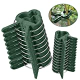 Clips para Plantas de jardín 60 pcs - Mopalwin flor clips reutilizable jardín planta, verduras y flores, patio apoyo clips de fijación, para plantas tallos Grow Vertical (30 pequeñas+30 grandes)
