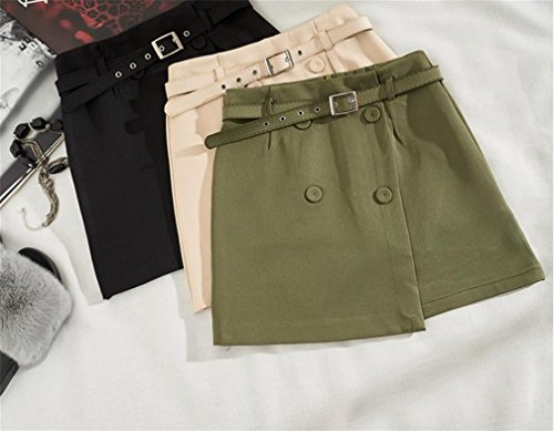 H+H HY Hoher Taillenrock Wilder Rock, Army Green, L,Army Green,l