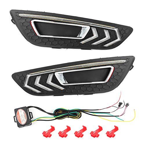 Car DRL Daytime Running Lamp, Car LED DRL Daytime Running Light 2 colori Lampada luminosa adatta per MK3 2015-2018