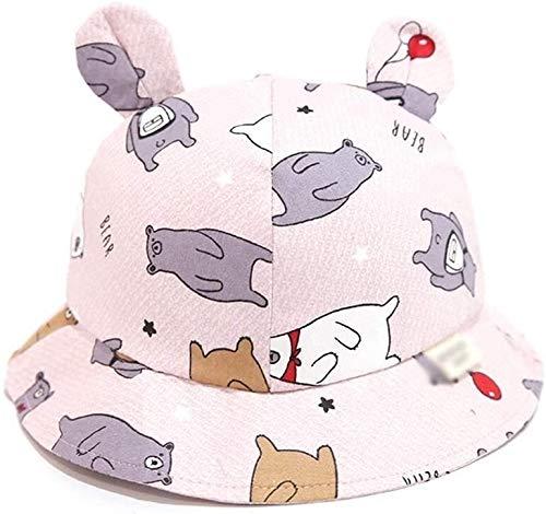 SGHKKL Sombrero de Pescador bebé 2-4 Años de Edad Casual Linda estupenda Parasol Niño Sombrero Muchacha del Sombrero de Marea de la Moda Primavera y el Verano Lindo (Color : Pink)