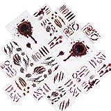 Joyjoz 170× Halloween Tatuajes Temporales de niña, niño, mujer, hombre, Pegatinas de Cara Sangre Fal...