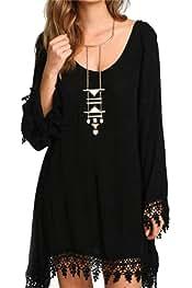 Vgvgh Womens Print Wrap Loose Plus Size Swing Belt Pleated Maxi Dresses