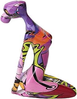 H HILABEE Résine Sculpture Abstraite Pièce D'accent, Moderne Méditation de Yoga Dame Objet de Décoration pour La Maison, B...