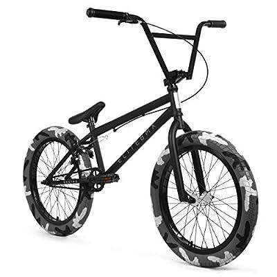 "Elite 20"" & 18"" BMX Bicycle Destro Model Freestyle Bike - 4 Piece Cr-MO Handlebar (20"" Destro Black Camo)"