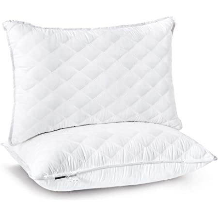 Sumtree Bed Hotel Quality Premium Plush Fiber Sleeping Pillows For Side And Back Sleeper Queen White Home Kitchen
