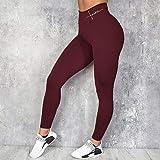B/H Pantalones de Yoga Suave Elastic,Leggings Pitillo de Cintura Alta Pantalones de Yoga,Pantalones de Gimnasia de Moda con Estampado de Letras-Red_3XL,Pantalones cómodos Casuales de Yoga Deporte