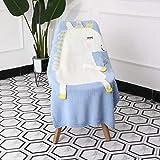 SQWK60 cm *110cm Cartoon Tier Nette Baby Decke Schlafsofa Reise Plaids Wollfaden Decke 60X110 cm Foto Farbe
