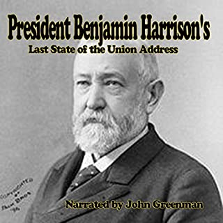 President Benjamin Harrison's Last State of the Union Address audiobook cover art