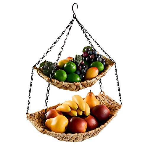 maDDma ® Hänge-Etagere 2 Etagen Hängekorb Hängeampel Obstkorb Gemüse-Ampel Korb z. Hängen