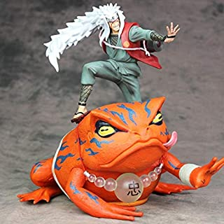 Fallhuoz Anime Naruto Shippuden Action Figure Jiraiya and Gama-PVC Statue Gama Sennin Collection Model Toy