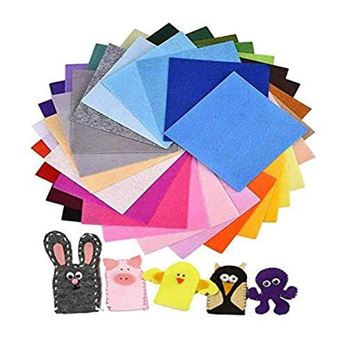 NACTECH 40pcs Filz Stoff 40 Farben Bastelfilz Filz Blätter 30 x 30cm Polyester Felt Fabric Filzplatten zum DIY Handwerk Filzstoff für Nähen Projekte Patchwork