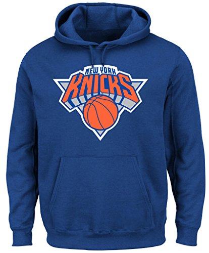 New York Knicks NBA Majestic Mens Big Logo Hoodie Royal Blue Big & Tall Sizes (3XT) image
